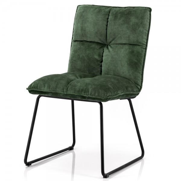 Esszimmerstuhl Ruby Samt moosgrün Stuhl