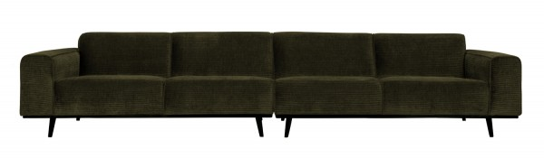 BePureHome XL 4 Sitzer Sofa Statement Rib Cord warmgrün Couch