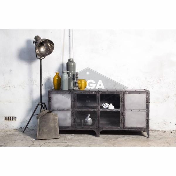 Industrial Metall Tv Mobel 152 Cm Lowboard Fernsehtisch Sideboard