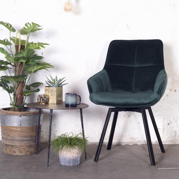 Esszimmerstuhl drehbar Shannon Samt grün Velvet Stuhl Esszimmer