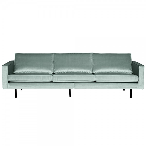 3 Sitzer Sofa Rodeo Samt mint Couch Garnitur Samtsofa Couchgarnitur
