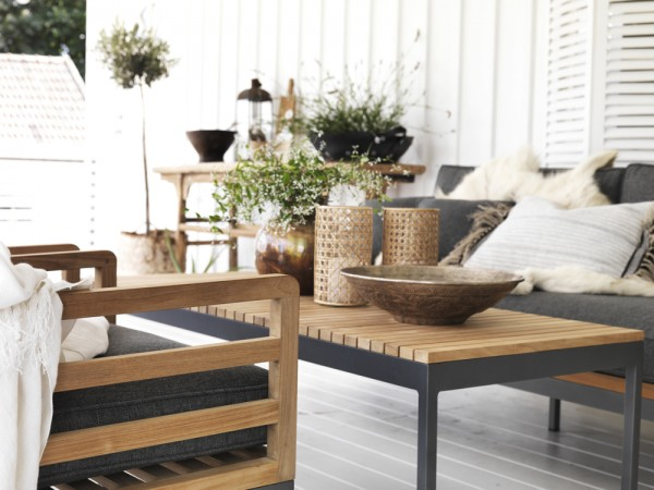 Lounge Gartentisch Teakholz ZALANGO 150 x 60