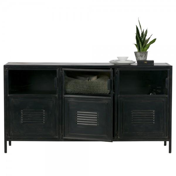 Industrie Kommode Ronja 143 cm Sideboard Metal schwarz