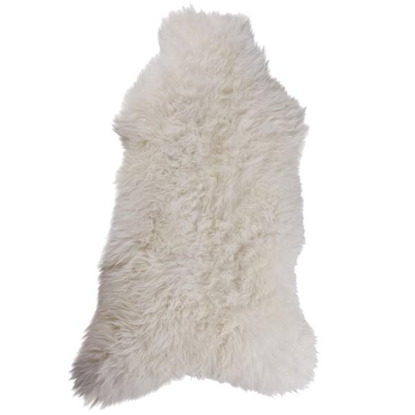 Schaffell Lammfell Schafsfell Naturfell 110 x 60 cm weiß