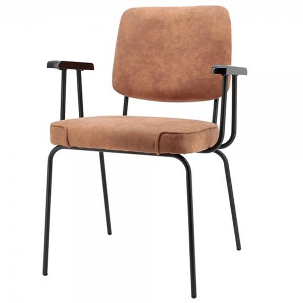 Esszimmer Stuhl SONNY cognac Vierfußstuhl Esszimmerstuhl Armlehnstuhl Küchenstuhl