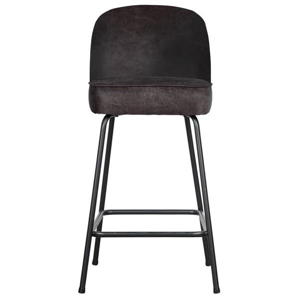 BePureHome Barhocker Vogue SH 64 cm Leder schwarz