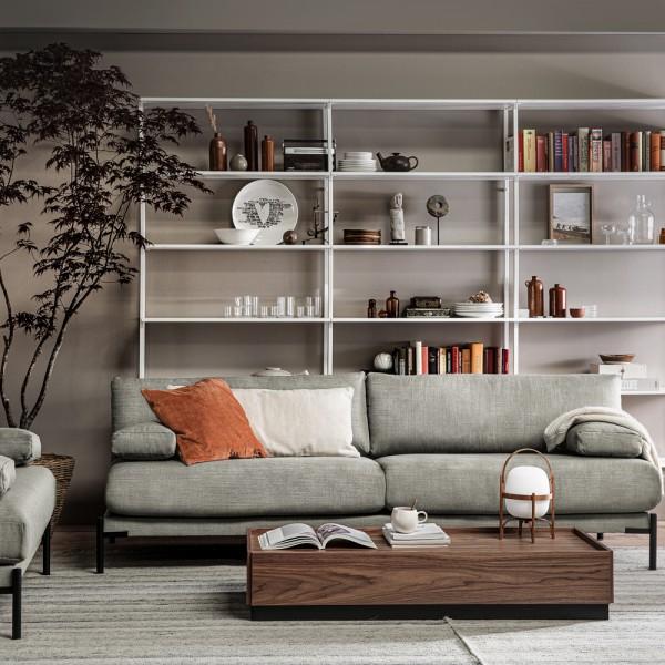 vtwonen 3 Sitzer Sofa Sleeve 242 cm mittelgrau Couch