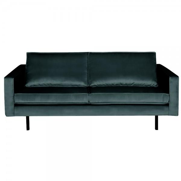 2,5 Sitzer Sofa Rodeo Samt blaugrün Couch