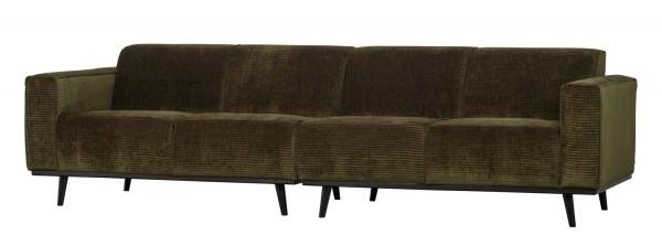 BePureHome 4 Sitzer Sofa Statement Rib Cord warmgrün Couch