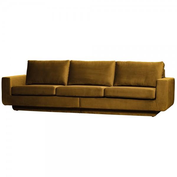 be pure 3 Sitzer Sofa Fame 282 cm Samt Velvet honiggelb Couch