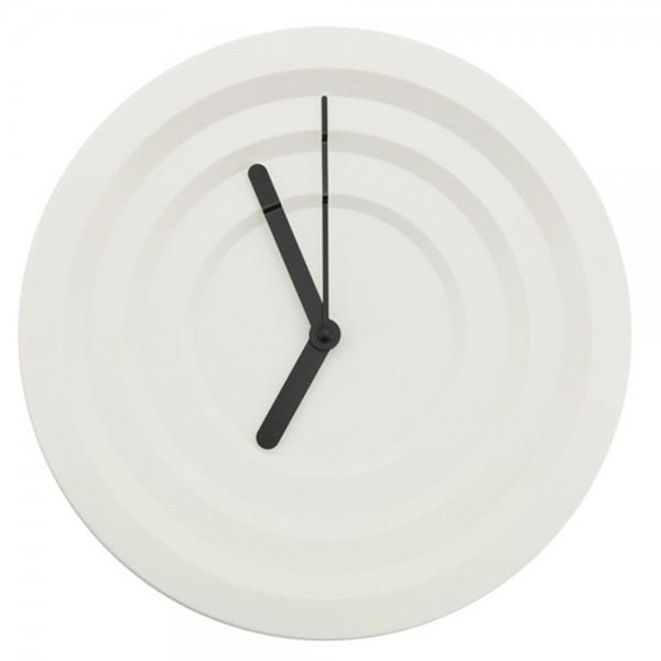 Wanduhr HYPNO rund Ø 30 cm Kunststoff weiß Wanduhr Clock Uhr batteriebetrieben