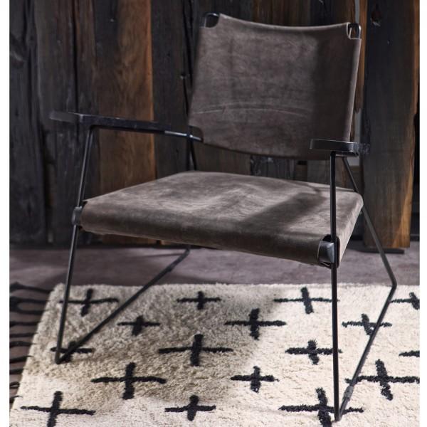Sessel Loungechair FUTURE Wildleder grau Relaxsessel Fernsehsessel Loungesessel …