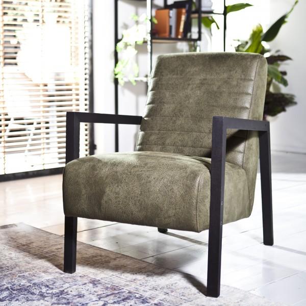 Armlehnsessel LARS Bezug Cherokee grün Relaxsessel Fernsehsessel Lounge Sessel