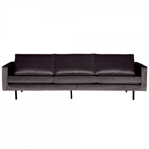3 Sitzer Sofa Rodeo Samt anthrazit Couch Garnitur Samtsofa Couchgarnitur