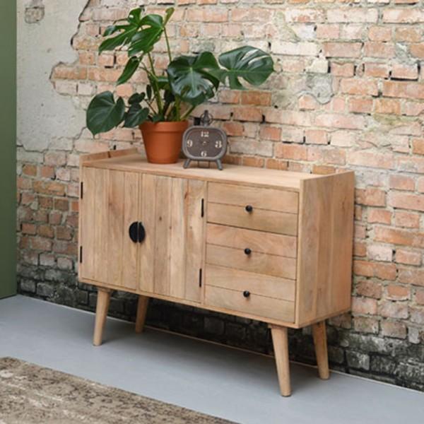 Vintage Sideboard Bjorn 150 Cm Mango Massivholz Schubladen Turen