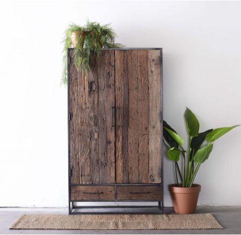 Industrie Schrank LOI Höhe 175 cm recyceltes Holz
