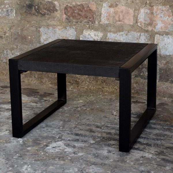 Beistelltisch Couchtisch Norris 60 x 60 cm Mango Holz Metall