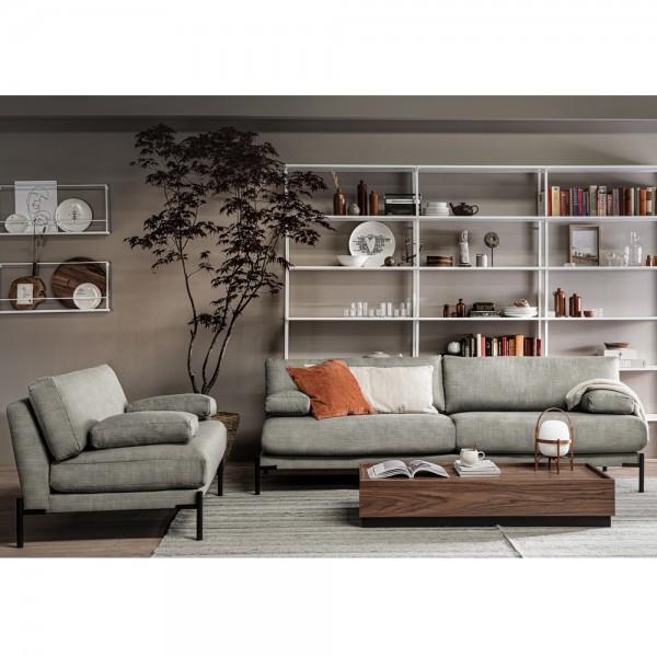 vtwonen 3 Sitzer Loveseat Sofa Sleeve mittelgrau Couch