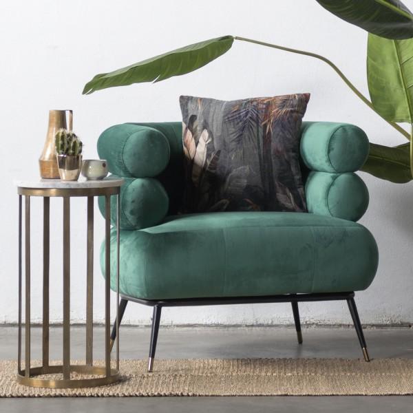 GIGA Lounge Sessel Ruby Samt grün Polstersessel