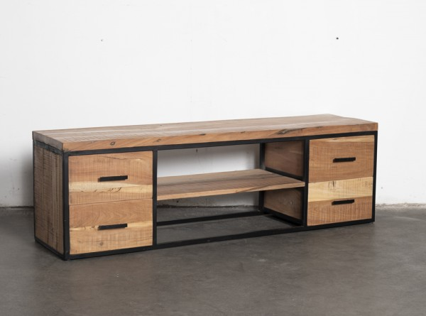 Industrie TV Lowboard JOHN 150 cm recyceltes Holz