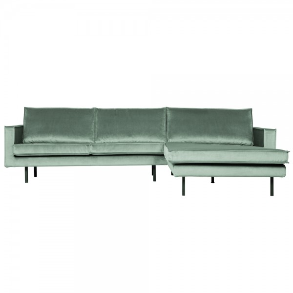 Eckgarnitur Rodeo Samt mint Couch Sofa Ecksofa Longchair rechts