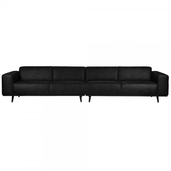 4 Sitzer Sofa STATEMENT XL Wildlederimitat schwarz Couch Garnitur Couchgarnitur