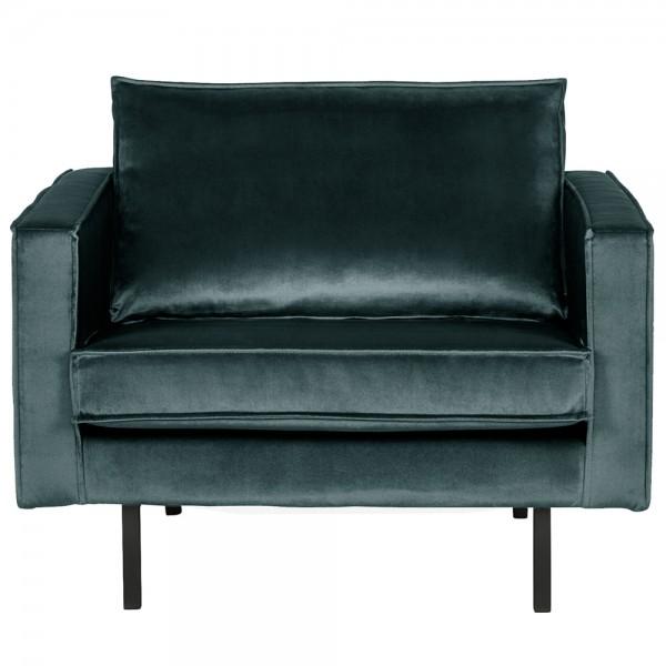 1,5 Sitzer Sessel Rodeo Samt blaugrün Lounge Armlehnsessel Fernsehsessel