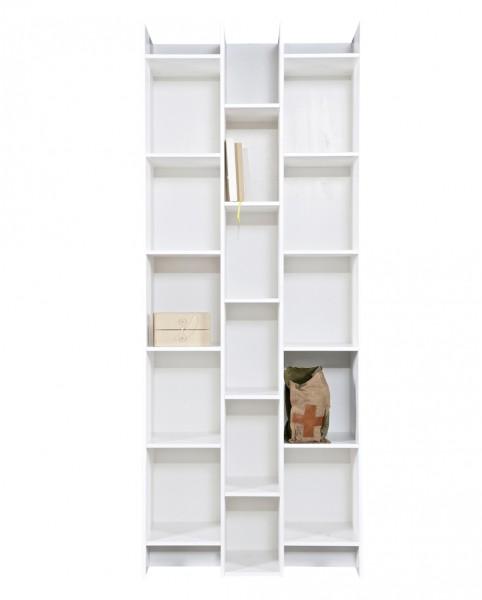 woood Bücherregal EXPAND Breite 80 cm Kiefer weiß