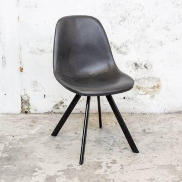 2er Set Esszimmerstuhl MING Kunstleder schwarz Stuhl