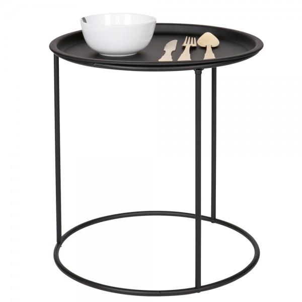 woood Beistelltisch IVAR rund Ø 40 Tisch schwarz