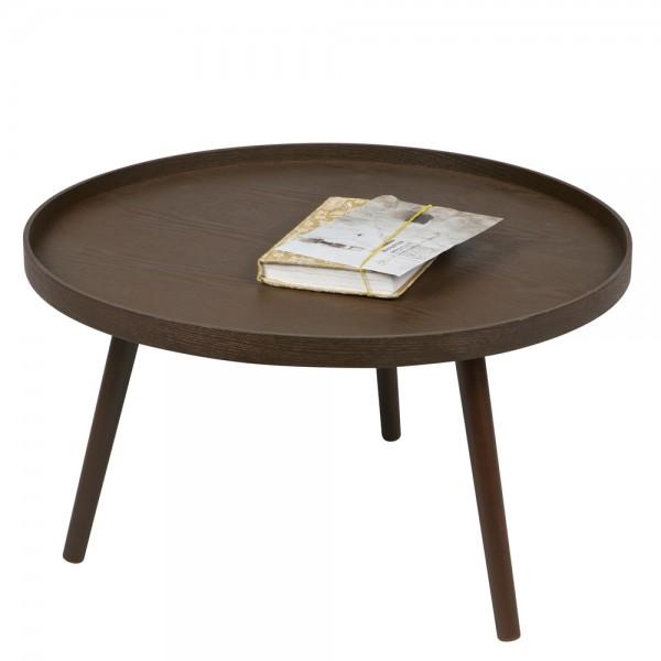 Beistelltisch Couchtisch MESA I Ø 60 cm Tisch Kaffeetisch Massivholz Nussbaum