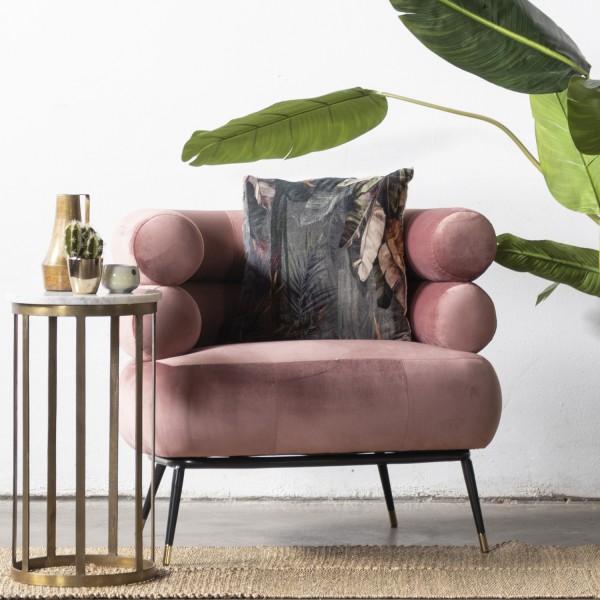 GIGA Lounge Sessel Ruby Samt rosa Polstersessel