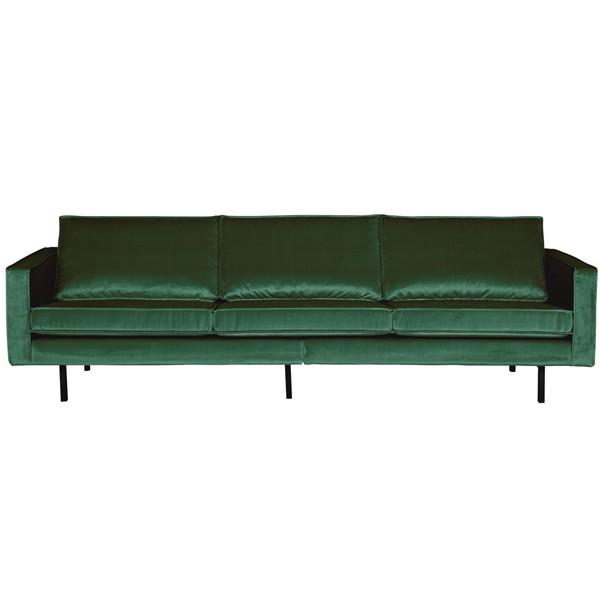 3 Sitzer Sofa Rodeo Samt waldgrün Couch Garnitur Samtsofa Couchgarnitur