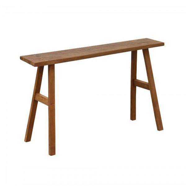 Hocker KIM 90 cm Sitzhocker Fußhocker Holz Massiv Teak Massivholz Holzhocker