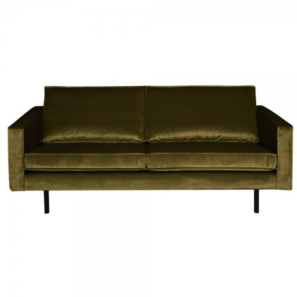 2,5 Sitzer Sofa Rodeo Samt olive Couch Garnitur Samtsofa Couchgarnitur
