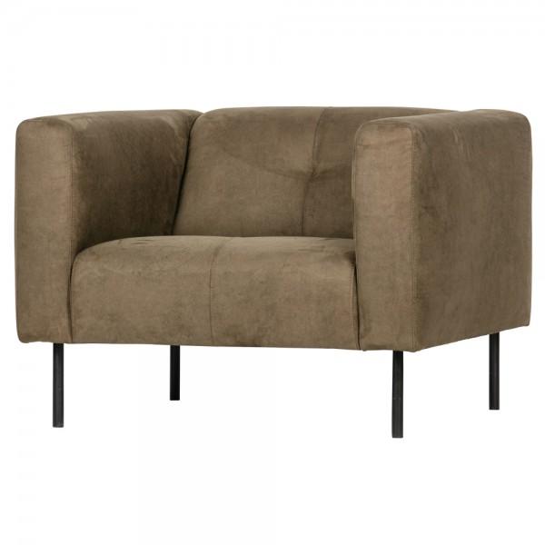 vtwonen Lounge Chair Sessel Skin Wildleder olivegrün Relaxsessel