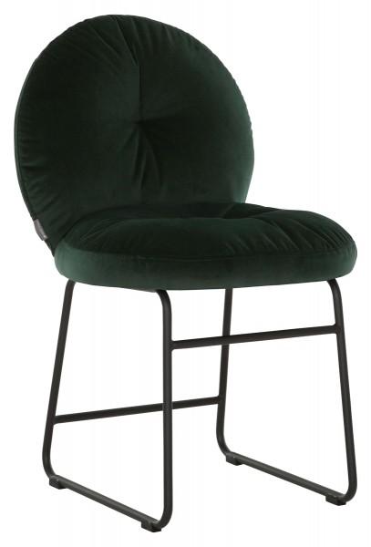 MUST Living Stuhl BOUTON Esszimmerstuhl Samt gepolstert grün