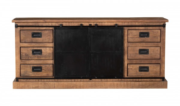 Kommode Sideboard Tamar 190 cm Mango Holz Metall