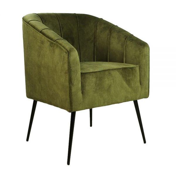 Esszimmerstuhl Chester olivgrün Samt Esstischsessel Esstischstuhl Freischwinger Stuhl