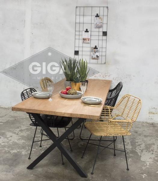 Esstischstuhl BADUNG Rattan natur Stuhl Rattanstuhl Esszimmer Küchenstuhl Armlehnstuhl