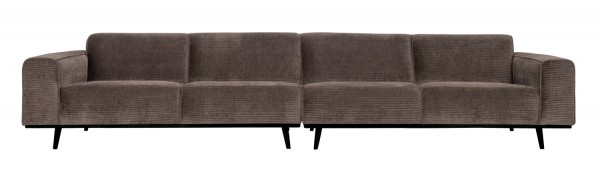 BePureHome XL 4 Sitzer Sofa Statement Rib Cord taupe Couch