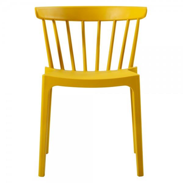 woood 2er Set Gartenstuhl Kunststoff Stapelstuhl BLISS gelb Stuhl