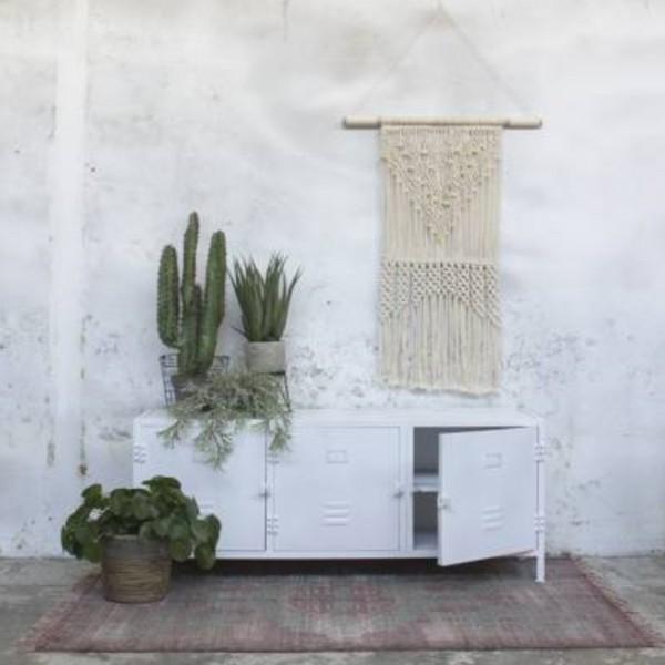 industrie design tv m bel dex tisch fernseh kommode rack board metall vintage wei new. Black Bedroom Furniture Sets. Home Design Ideas