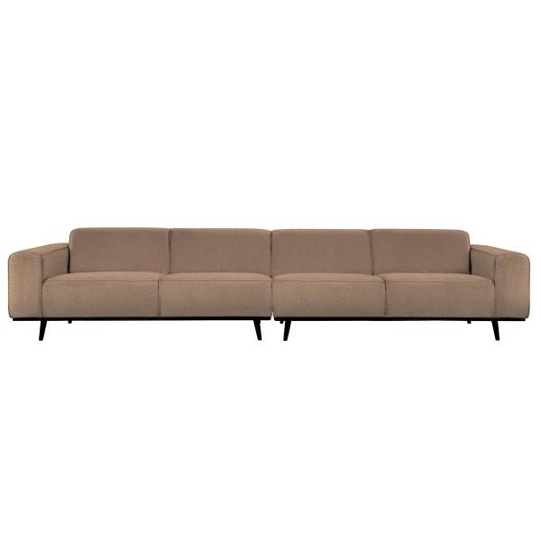 4 Sitzer Sofa STATEMENT XL Bouclé nougat Couch Garnitur Couchgarnitur