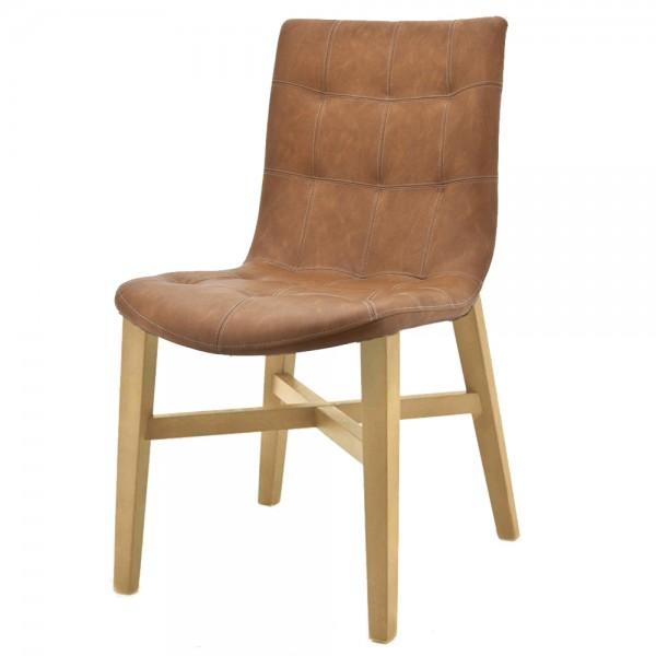 ELEONORA Design Stuhl NEBA cognac Polsterstuhl