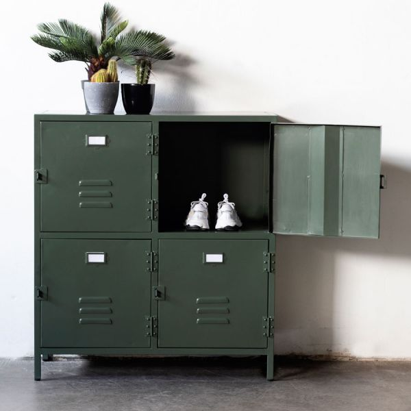Industrie Kommode New Vintage B 95 cm Metall grün
