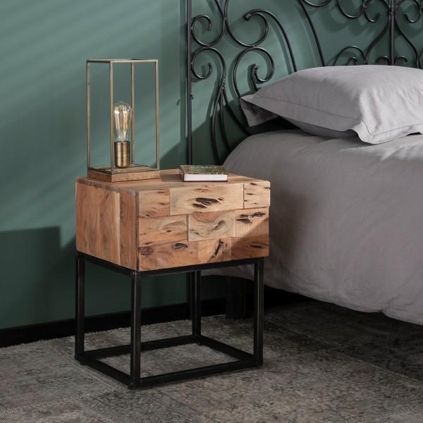 Nachttisch Milla Beistelltisch Akazienholz