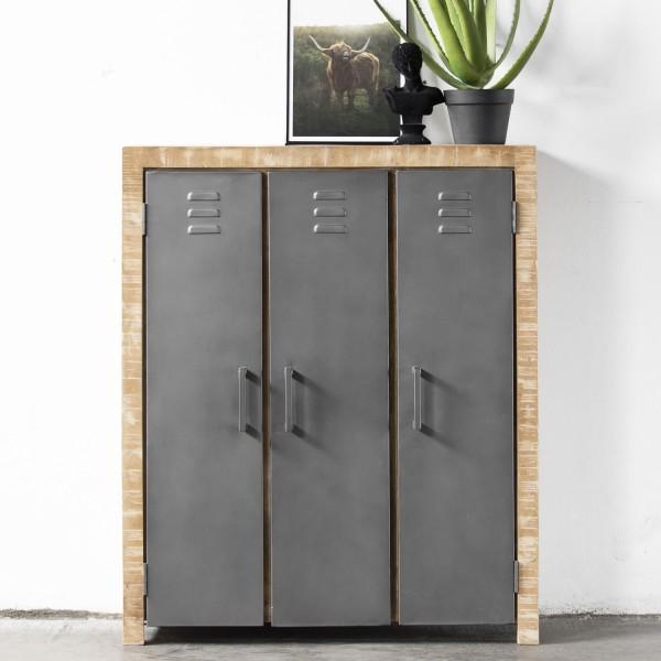 GIGA Kommode Fedde 3 Türen Spindschrank Locker Schrank