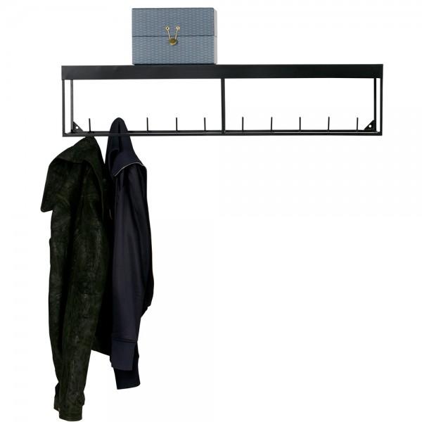 Wandgarderobe Hängegarderobe MEERT 90 cm Metall schwarz Garderobe Hutablage