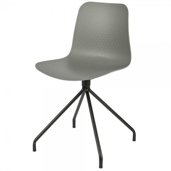 2er Set Esszimmerstuhl SIS Kunststoffschale grau Stuhl Esszimmer Küchenstuhl